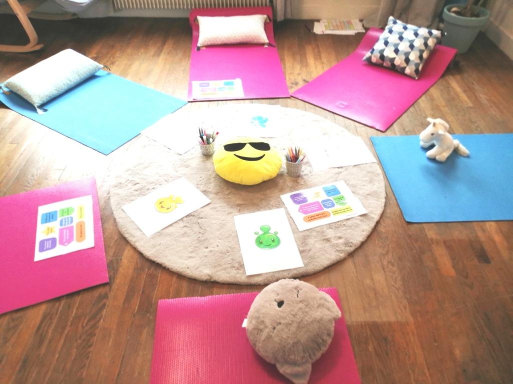 Atelier de sophrologie pour enfants la bulle des émotions à Yvetot, Duclair et Barentin animés par Delphine Frébourg Sophrologue